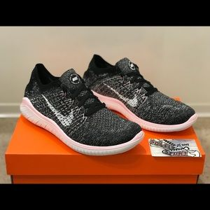 Nike Shoes - NEW Nike Free RN 2018 Flyknit Pink Black Vapormax